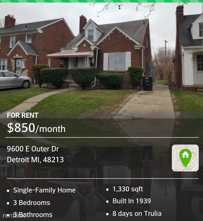 3 Bedroom Apartments In Michigan: 9600 Outer Dr E, Detroit, MI 48213 3 Bedroom House For
