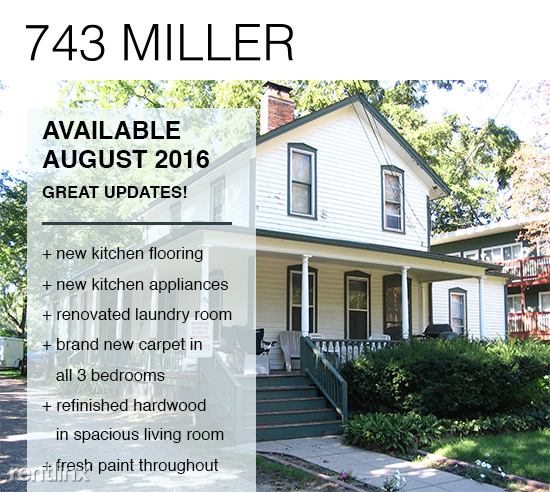 743 Miller Ave Ann Arbor Mi 48103 3 Bedroom Apartment