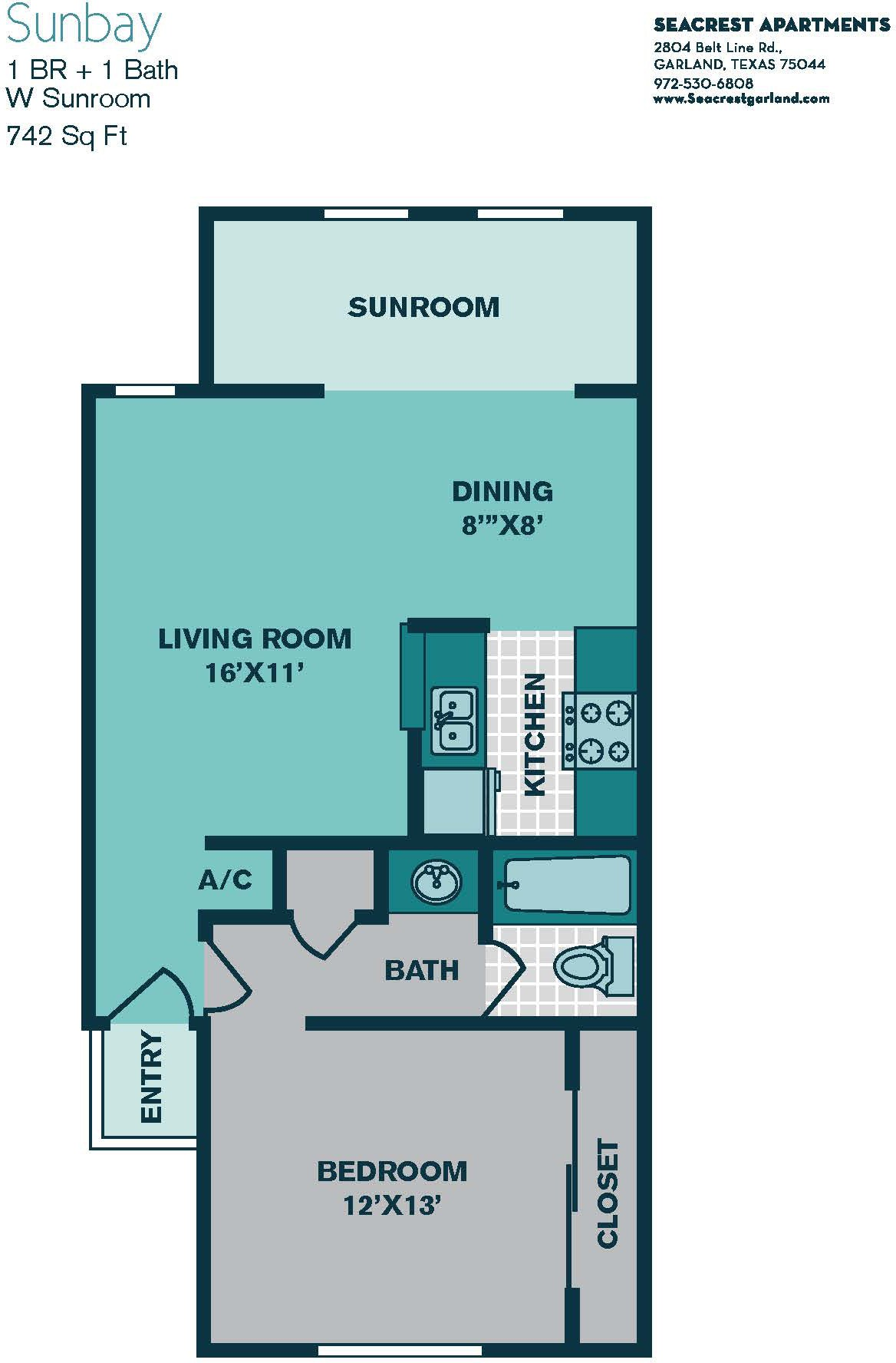 Seacrest Apartments, Garland - (see pics & AVAIL)